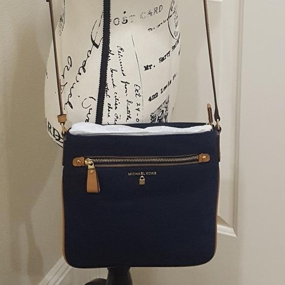 633567a63bc6 Michael Kors Bags | Kelsey Large Nylon Crossbody | Poshmark